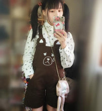 Load image into Gallery viewer, S/M/L Pink Rabbit/Brown Bear Kawaii Lolita Suspender Trousers/Suspender Dress SP165159