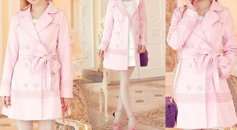 S/M/L Pinky Princess Double-breasted Fashion Coat SP153501 - SpreePicky  - 2