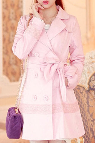 S/M/L Pinky Princess Double-breasted Fashion Coat SP153501 - SpreePicky  - 3