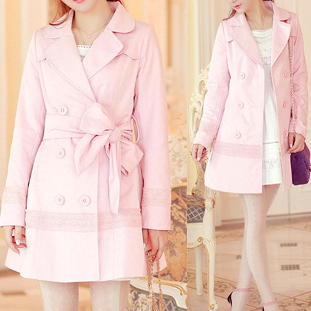 S/M/L Pinky Princess Double-breasted Fashion Coat SP153501 - SpreePicky  - 1