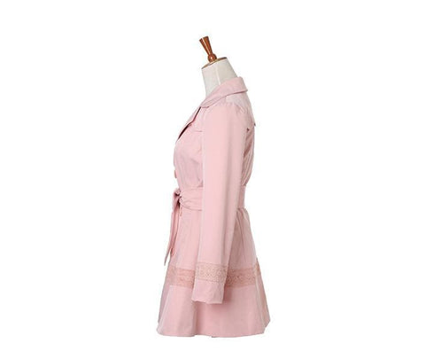S/M/L Pinky Princess Double-breasted Fashion Coat SP153501 - SpreePicky  - 8