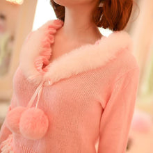 Load image into Gallery viewer, S/M/L Pinky Sweet Cutie Falbala Pullover Sweater SP154418 - SpreePicky  - 5