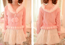 Load image into Gallery viewer, S/M/L Pinky Sweet Cutie Falbala Pullover Sweater SP154418 - SpreePicky  - 4