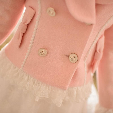 S/M/L Pinky Wave Collar Double-breasted Coat SP153623 - SpreePicky  - 5