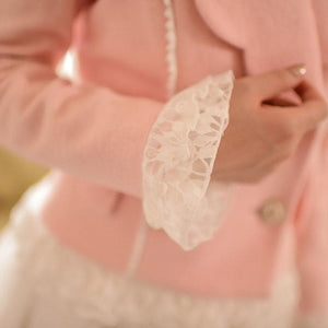 S/M/L Pinky Wave Collar Double-breasted Coat SP153623 - SpreePicky  - 6