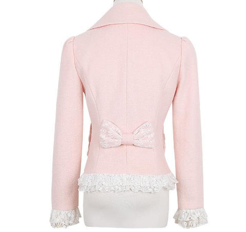 S/M/L Pinky Wave Collar Double-breasted Coat SP153623 - SpreePicky  - 9