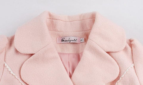 S/M/L Pinky Wave Collar Double-breasted Coat SP153623 - SpreePicky  - 10
