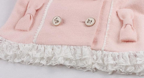 S/M/L Pinky Wave Collar Double-breasted Coat SP153623 - SpreePicky  - 12
