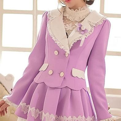 S/M/L Purple Elegant Coat SP153620 - SpreePicky  - 4