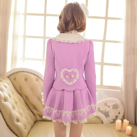 S/M/L Purple Elegant Coat SP153620 - SpreePicky  - 5