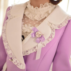 S/M/L Purple Elegant Coat SP153620 - SpreePicky  - 6