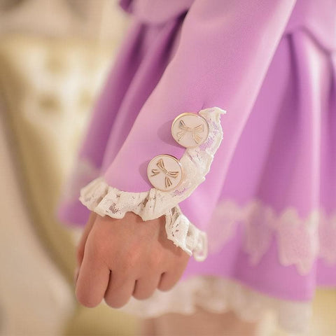 S/M/L Purple Elegant Coat SP153620 - SpreePicky  - 8