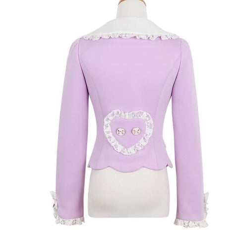 S/M/L Purple Elegant Coat SP153620 - SpreePicky  - 10