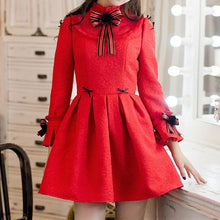 Load image into Gallery viewer, S/M/L Red Sweet Bodycon Bowknot Princess Dress SP168555