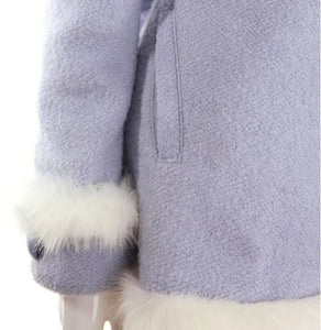 S/M/L [Reservation]Light Blue/Pink Winter Fluffy Fleece Coat SP154413