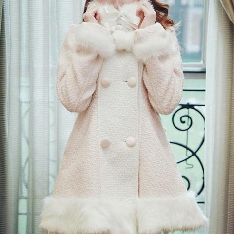 S/M/L [Reservation]Light Blue/Pink Winter Fluffy Fleece Coat SP154413 - SpreePicky  - 7