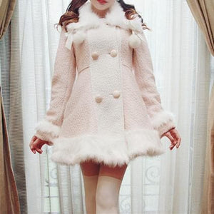 S/M/L [Reservation]Light Blue/Pink Winter Fluffy Fleece Coat SP154413 - SpreePicky  - 6