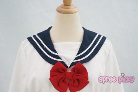S/M/L Sailor Moon Seifuku Long Sleeve Dress SP153329