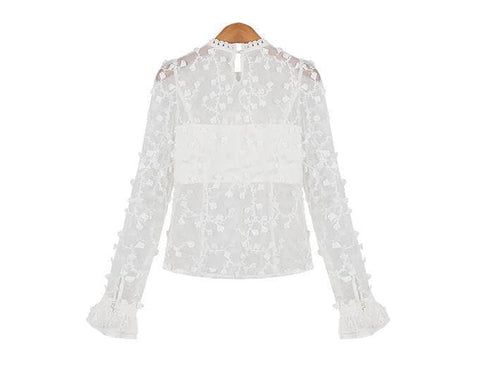 S/M/L Snow Dots Lace Top SP153419 - SpreePicky  - 8