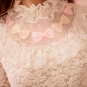 S/M/L Sweet Lace Bottoming Shirt Blouse SP153614 - SpreePicky  - 5
