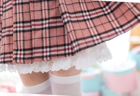 S/M/L Sweet Preppy Style Plaid Skirt SP178647
