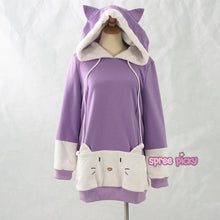 "Load image into Gallery viewer, S/M/L [The ""Hentai"" Prince and the Stony Cat] Tsukiko Cat Ear Fleece Hoodie Jumper SP154329 - SpreePicky  - 6"