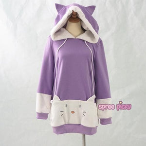 "S/M/L [The ""Hentai"" Prince and the Stony Cat] Tsukiko Cat Ear Fleece Hoodie Jumper SP154329 - SpreePicky  - 6"