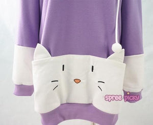 "S/M/L [The ""Hentai"" Prince and the Stony Cat] Tsukiko Cat Ear Fleece Hoodie Jumper SP154329 - SpreePicky  - 8"