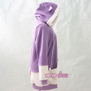 "S/M/L [The ""Hentai"" Prince and the Stony Cat] Tsukiko Cat Ear Fleece Hoodie Jumper SP154329 - SpreePicky  - 7"