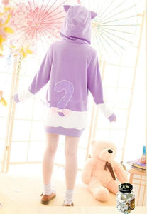 "S/M/L [The ""Hentai"" Prince and the Stony Cat] Tsukiko Cat Ear Fleece Hoodie Jumper SP154329 - SpreePicky  - 5"