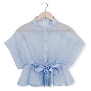 S/M/L White|Blue Perspective Blouse Top SP151949 - SpreePicky  - 3