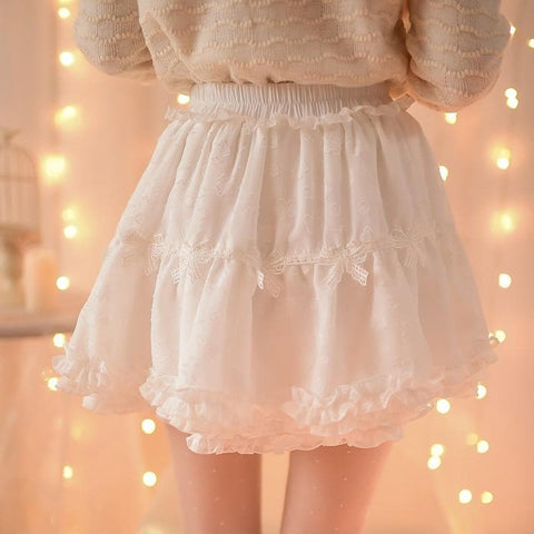 S/M/L White/Purple Sweet Candy Fluffy Skirt SP153612 - SpreePicky  - 6