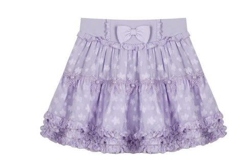 S/M/L White/Purple Sweet Candy Fluffy Skirt SP153612 - SpreePicky  - 8