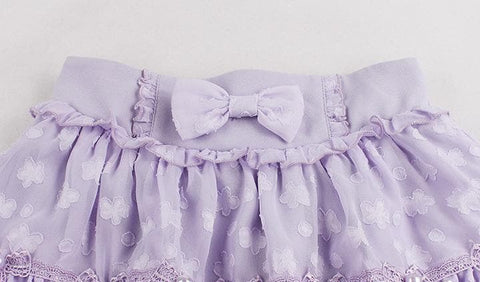 S/M/L White/Purple Sweet Candy Fluffy Skirt SP153612 - SpreePicky  - 10