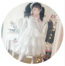 Load image into Gallery viewer, S/M/L White Lolita Sweet Princess Dress With Strawberry Embroidery SP165170