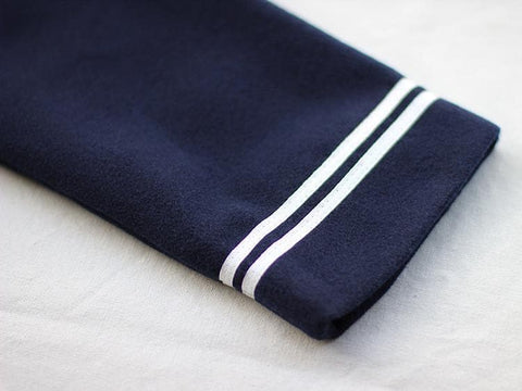 S/M/L Wine/Navy Sailor Sakura Embroider Woolen Uniform Coat SP154675 - SpreePicky  - 11