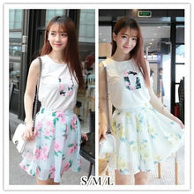 Load image into Gallery viewer, S/M/L Yellow/Blue Pastel Floral 2 Pieces Set SP152270 - SpreePicky  - 1