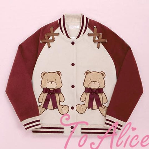 S/M Navy/Wine Teddy Bear Jacket SP178717