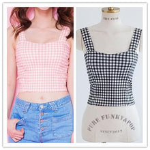 Load image into Gallery viewer, S/M Pink/Black Bestie Gingham Bustier Top SP152527 - SpreePicky  - 3
