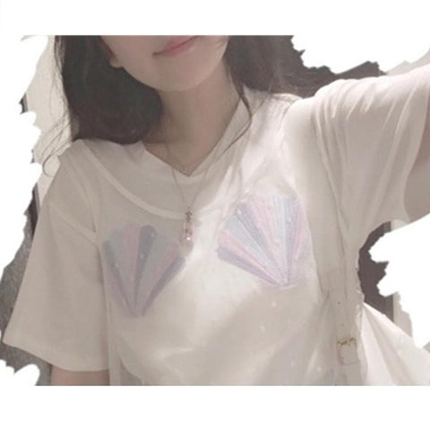 S/M Pastel Sea Shell T-shirt SP166774