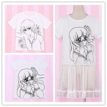 Load image into Gallery viewer, Over Sized Kabe-don Tee Shirt SP152511 - SpreePicky  - 1