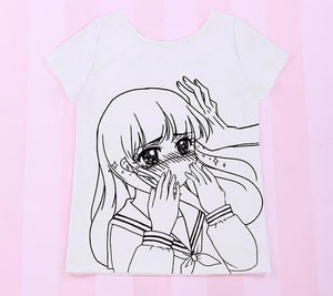 Over Sized Kabe-don Tee Shirt SP152511 - SpreePicky  - 4