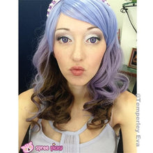 Load image into Gallery viewer, Harajuku Lolita Cosplay Purple Gradient 19INCH Wig SP130002 - SpreePicky  - 6