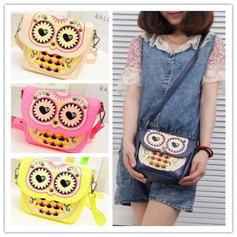 Owl Shoulder Crossbody Hand Bag 3 Ways Using SP140410 - SpreePicky  - 1