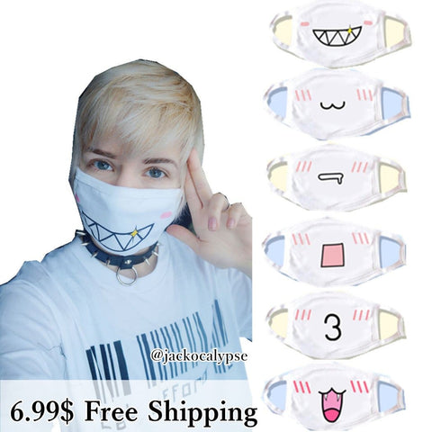 13 designs Emoji Emoticons Face Dust Mask SP141360 - SpreePicky  - 2