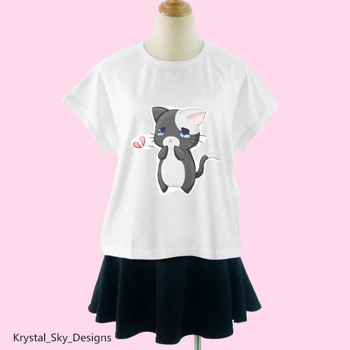 Sad Kitty Tee Shirt SP1710419