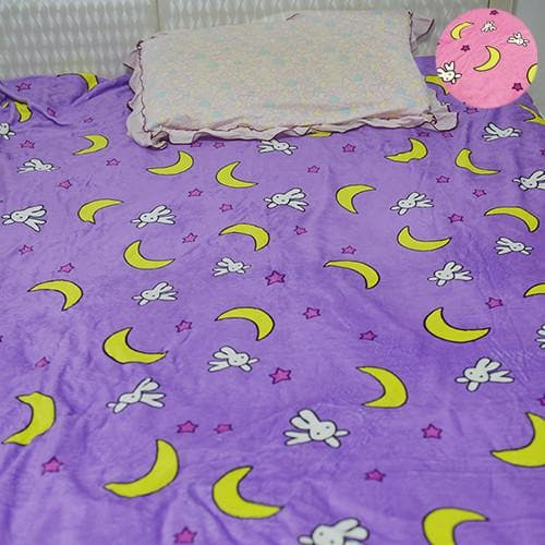 Sailor Moon Kawaii Bunny Moon Fleece Bedding Sheet SP166330