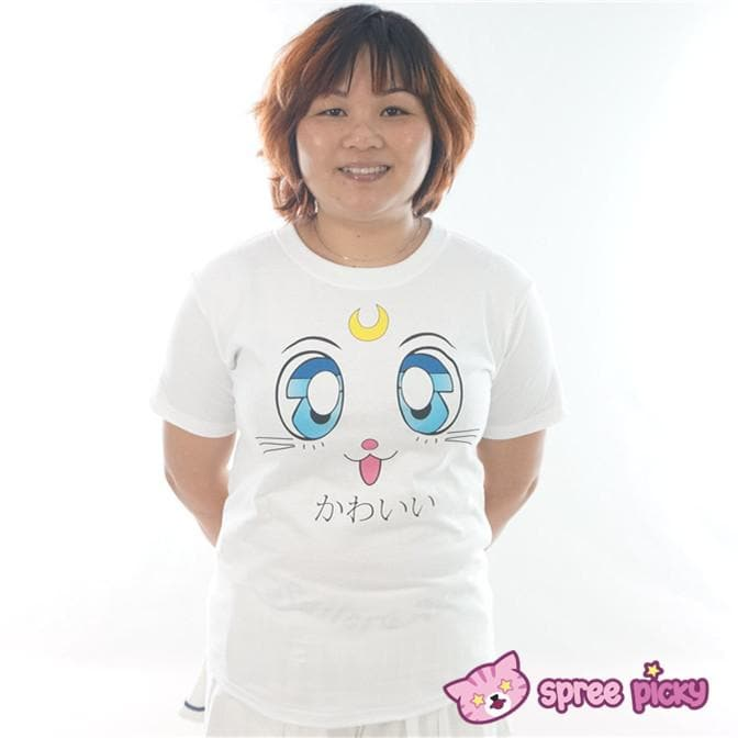Sailor Moon Artemis Kawaii Kitten Short Sleeve T-shirt SP151726 - SpreePicky  - 1