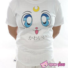Load image into Gallery viewer, Sailor Moon Artemis Kawaii Kitten Short Sleeve T-shirt SP151726 - SpreePicky  - 2