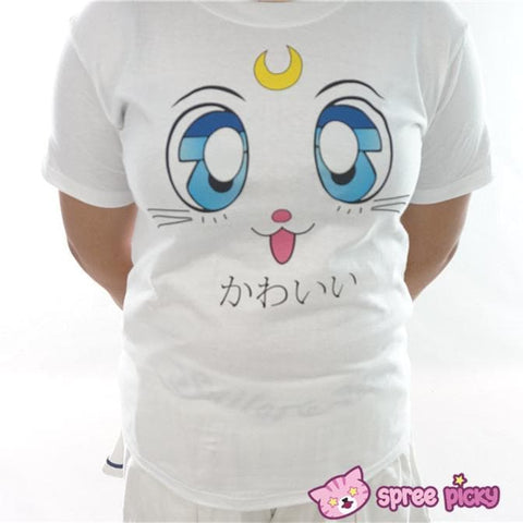 Sailor Moon Artemis Kawaii Kitten Short Sleeve T-shirt SP151726 - SpreePicky  - 2